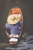 Traditional floating market in Bangkok, Thailand Royalty Free Stock Photography