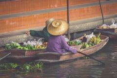 Traditional floating market in Bangkok, Thailand Royalty Free Stock Photos