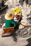 Traditional floating market in Damnoen Saduak Royalty Free Stock Photos