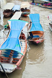 Traditional floating market, Thailand. Royalty Free Stock Photo