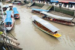 Traditional floating market, Thailand. Traditional Amphawa floating market, Thailand Royalty Free Stock Photography