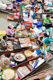 Traditional floating market, Thailand. Traditional Amphawa floating market, Thailand Royalty Free Stock Image