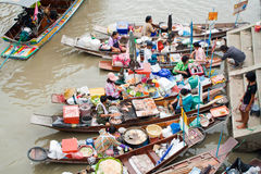 Traditional floating market, Thailand. Traditional Amphawa floating market, Thailand Stock Photography