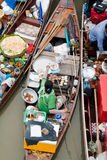 Traditional floating market, Thailand. Traditional Amphawa floating market, Thailand Royalty Free Stock Photo