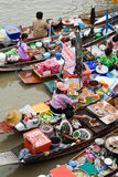 Traditional floating market, Thailand. Traditional Amphawa floating market, Thailand Stock Image