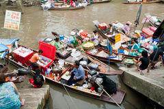 Traditional floating market, Thailand. Stock Photo