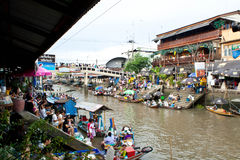 Traditional floating market, Thailand. Traditional Amphawa floating market, Thailand Stock Images