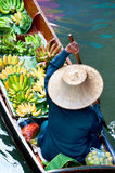 Traditional floating market ,Thailand. Royalty Free Stock Image