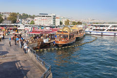 Traditional floating restaurant stock images