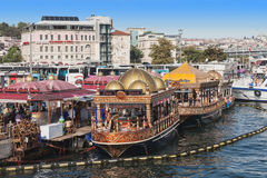 Traditional floating restaurant Stock Photos