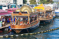 Traditional floating restaurant Royalty Free Stock Photography