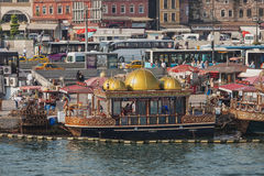 Traditional floating restaurant Stock Image