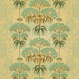 Traditional floral border in Victorian style. Stock Images