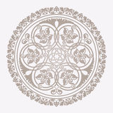 Traditional floral islamic ornament Stock Image