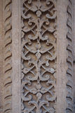 Traditional Flower Criss-Cross Stone Carving Royalty Free Stock Photos