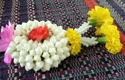 Traditional flower garland Royalty Free Stock Images