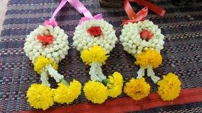 Traditional flower garland Stock Photos