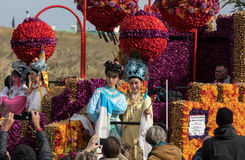 The traditional flowers parade Bloemencorso from Noordwijk to Haarlem in the Netherlands. Royalty Free Stock Photography