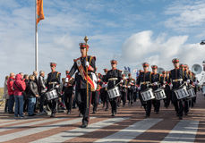 The traditional flowers parade Bloemencorso from Noordwijk to Haarlem in the Netherlands Royalty Free Stock Images