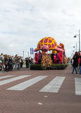 The traditional flowers parade Bloemencorso from Noordwijk to Haarlem in the Netherlands. Stock Photo