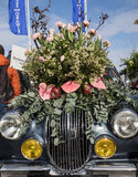The traditional flowers parade Bloemencorso from Noordwijk to Haarlem in the Netherlands Stock Images