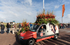 The traditional flowers parade Bloemencorso from Noordwijk to Haarlem in the Netherlands Royalty Free Stock Photos