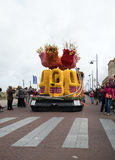 The traditional flowers parade Bloemencorso from Noordwijk to Haarlem in the Netherlands. Royalty Free Stock Photo