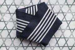 Traditional folded stiff obi belt close up Royalty Free Stock Photo
