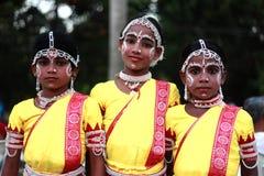 Traditional folk artists from Orissa participate in the International folk art festival Stock Photography
