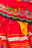 Traditional folk costume from Ecuador, south america, indigenuous woman Stock Photography