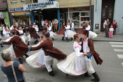 Traditional folk dance Stock Photos