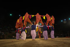 Traditional folk dance, India Royalty Free Stock Images
