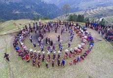 "Traditional folk dance——""Pheasant dance"" Stock Image"