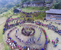 "Traditional folk dance——""Pheasant dance"" Stock Photo"