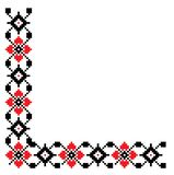 Traditional folk embrodery corner frame royalty free stock photography