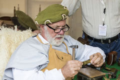 Traditional folk fair in honor of St. Istvan and the first hlet in Hungary with folk craftsmen.Budapest. Hungary Stock Photography