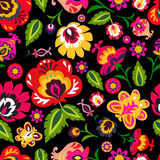 Traditional folk floral pattern illustration. This is a image - you can simply edit colors and shapes vector illustration