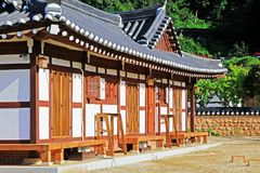 Korea Traditional Folk House Stock Photo