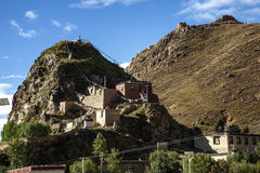 Traditional folk houses in Tibet Plateau Royalty Free Stock Photos