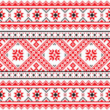 Traditional folk knitted red emboidery pattern from Ukraine Royalty Free Stock Photography