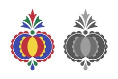 Traditional folk ornament, the Moravian ornament Royalty Free Stock Photography
