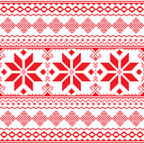 Traditional folk red embroidery pattern from Ukraine or Belarus - Vyshyvanka Royalty Free Stock Photo