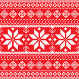 Traditional folk red and white embroidery pattern from Ukraine or Belarus - Vyshyvanka Royalty Free Stock Images