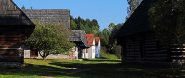 Traditional folk village architecture, Martin, Slovakia Royalty Free Stock Images