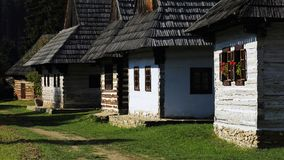 Traditional folk village architecture, Martin, Slovakia Stock Image