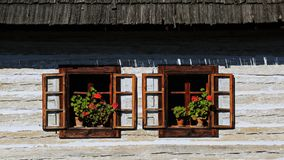 Traditional folk village architecture, Slovakia Stock Photo