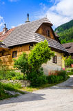 Traditional folklore house in old village Vlkolinec, Slovakia Stock Images