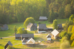 Traditional folklore houses Stock Photos