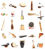 Traditional folklore. A set of traditional folklore musical Royalty Free Stock Photo