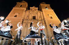 Traditional folklore in Vélez-Rubio, Spain Royalty Free Stock Image
